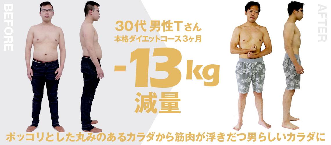 大阪帝拳ボクシングジム 30代男性本格ダイエットコース13kg減量ビフォーアフター