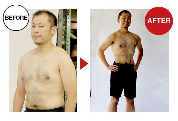 大阪帝拳ボクシングジム  30代男性本格ダイエットコース12.4kg減量ビフォーアフター