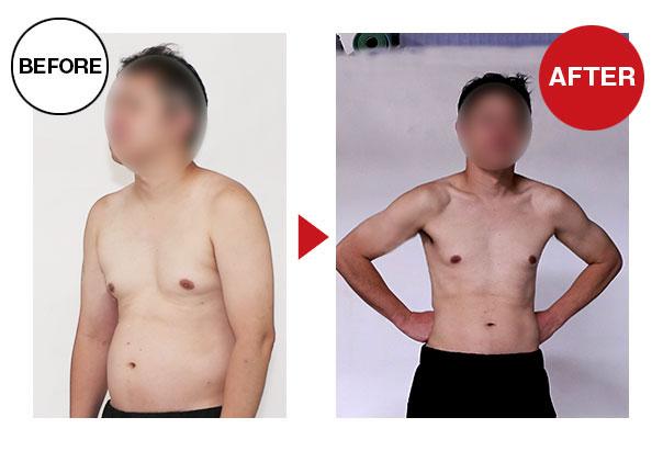大阪帝拳ボクシングジム 40代男性男性本格ダイエットコース10.1kg減量ビフォーアフター