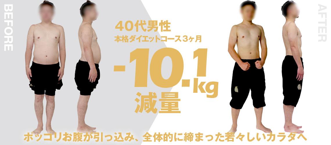大阪帝拳ボクシングジム ビフォーアフター10.1㎏ダイエット
