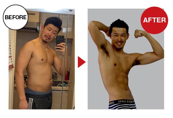 大阪帝拳ボクシングジム 29歳男性本格ダイエットコース13.1kg減量ビフォーアフター