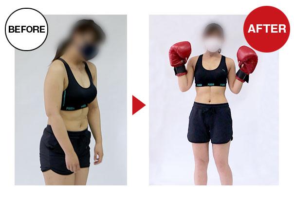 20歳女性ダイエットコースビフォーアフター